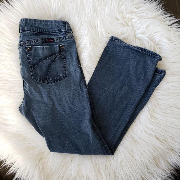 Torrid Mid Rise Jeans Bot Cut Stretch Waist 14